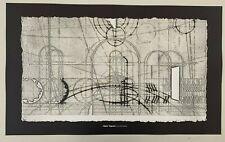 WALTER VALENTINI, 'LA CITTA IDEALE',MEGA RARE 1980's SILKSCREEN ART PRINT