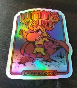 WMMS 101 The Buzzard HOLOGRAPHIC STICKER - Cleveland Ohio Rock N Roll Look