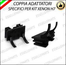 2 x ADATTATORI PORTA LAMPADE KIT XENON H7 PER FIAT 500
