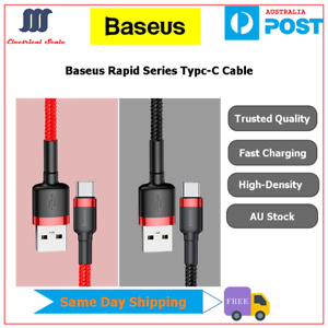 Baseus Type-C Data Sync Fast Charger Charging Cable For Samsung S10/S9+