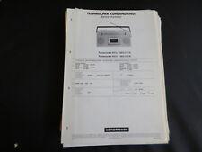 Original Service Manual Nordmende Transcorder 5012 5013