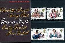 Gb British Post Office Mint Stamps - Famous People - Mnh - 4 Stamp Pack