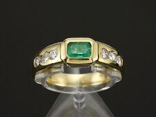 Schöner Brillant Smaragd Ring ca. 1,00ct