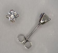 0.15CT GENUINE DIAMOND STUD EARRINGS WHITE GOLD