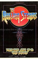 Rolling Stones 1975 Cow Palace Concert Poster