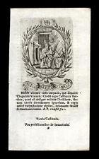 santino incisione 1600 S.TOMMASO D'AQUINO