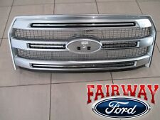 "15 thru 17 F-150 OEM Genuine Ford ""Luxurious Chrome"" Platinum Mesh Grille Grill"