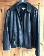 Calvin Klein Gents Black Leather Jacket XL