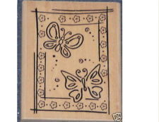 """""""BUTTERFLY BLOCK""""  RUBBER STAMP"""