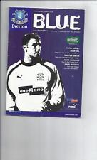 Everton Teams C-E Football League Cup Fixture Programmes