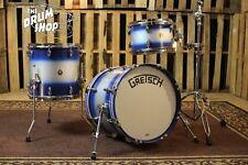 Grestch Broadkaster Drum Set Satin Navy Blue Duco Finish