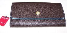 Mundi CLUTCH & GO Safe Keeper Synthetic Leather Wallet BLACK/BLUE ~ NWT $40