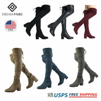 DREAM PAIRS Women Over The Knee Boots Ladies High Calf Leg Winter Boots
