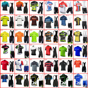 Summer Mens Team Bike Uniform Cycling Jersey Set Short Sleeve Bicycle Outfits