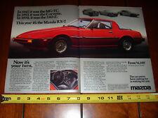 1979 MAZDA RX7  **ORIGINAL 2 PAGE AD** RX-7 RED