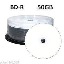 25 RITEK 6x 50GB Blu-ray BD-R DL Double Layer Blank Media White Printable Discs
