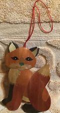 Christmas Ornament Paper Thin Wood Fox