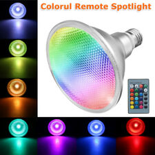 E27 PAR38 Spotlight RGB Color Changing LED Light Lamp Bulb Remote Control 20W
