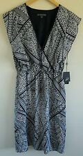 NWT Adrianna Papell Women's Dress Size Small Summer Moon NEW $139 Blue/White