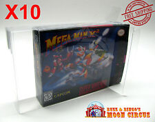 10x SUPER NINTENDO SNES CLEAR PROTECTIVE BOX SLEEVE CASE - ARCHIVAL QUALITY