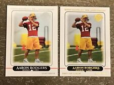 2010 and 2012 Topps Anniversary Reprints Aaron Rodgers Rookie Cards Packers