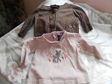 cardigan et haut  pour  bébé 3 mois ou poupée reborn,baigneur 55cm