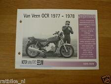 MVE81- VAN VEEN OCR WANKEL 1977-78 MINI POSTER AND INFO MOTORCYCLE,MOTORRAD