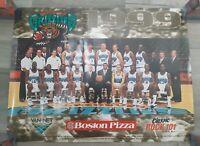 Vancouver Grizzlies Rare Poster 1999 Boston Pizza Rock 101 Promo Vintage