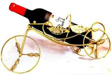 Golden Bicycle Vertical Wine Holder Made of Resin Sculpture Crafts Bar/Showcase