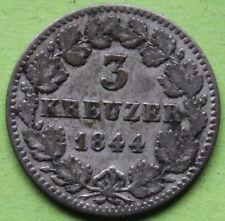 ALLEMAGNE BAYERN 3 KREUZER 1844