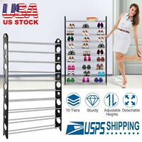 10 Tier Shoe Rack Shoe Tower Rack Organizer Space Saving Household Supplies US