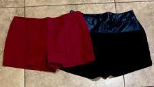 Forever 21 High Waisted Shorts Lot Sz Medium Black Maroon