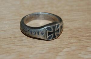 Patriotischer Ring WK1 Militaria 1914-1915 Eisernes Kreuz