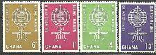 Ghana - Kampf gegen die Malaria Satz postfrisch 1962 Mi.Nr. 134-137
