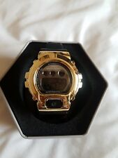 Solid Gold Casio G Shock Watch Black Mens / Woman's GMD-S6900SM ⌚😍
