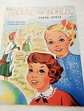 Vintage UNUT Around the World Paper Doll Book - Saalfield #1359