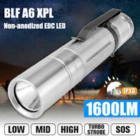 BLF A6 XPL Super Bright 7/4modes Non-anodized EDC LED Flashlight Torch 18650