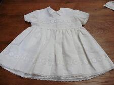 robe fillette vintage col claudine blanche avec dentelle 1950 taille 2 ans