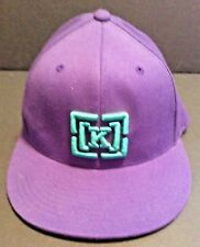 Kr3w FLOCKER 2 White Green Squares Flexfit One Size Fits All Men/'s Baseball Hat