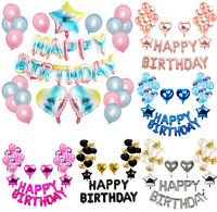 Happy Birthday Decorations Multiple Styles Balloons Banners Sets Party Supplies