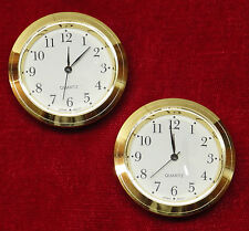 Seiko Mini Insert Clock Movement LOT OF 2 NEW Quartz Battery Fit Up 1 7/16""