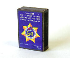 Collectable Matchbox & Matches The Queen's Silver Jubilee Appeal 1977 Australia