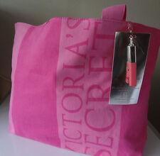 Victoria Secrets Pink Tote Bag  Vertical  &  Horizontal Stripe  15.5 large