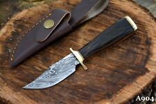 Custom Damascus Steel Skinning Hunting Knife Handmade With Walnut Handle (A904)