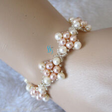 "Pearl Bracelet Ac——More Colors 7.5"" 8"" 8.5"" 4-5mm Freshwater"