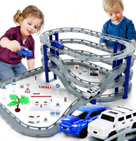 Electric Racing Rail Car Kids Train Track Model Toy Railway Track Racing Road