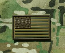 Condor PVC Rubber US Flag Morale Patch Multicam Green + Coyote Tan