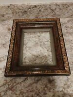 SMALL VICTORIAN Sponge Grain Painted Stencil Antique 12 x 10 1/4 Frame. DD50