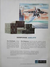 2/1973 PUB WATKINS JOHNSON RECEIVER ANTENNA ATE TRANSMITTER A-7 NAVY CARRIER AD