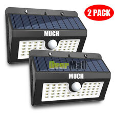 2X 45 Solar LED Light Outdoor Garden Waterproof Wireless Security Motion 3 Modes